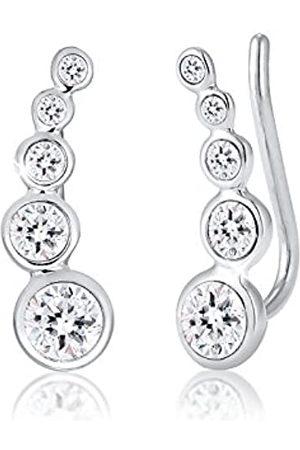 Elli Mujer Pendientes - Pendientes para dama forma geométrica con cristales Swarovski® en de ley 925