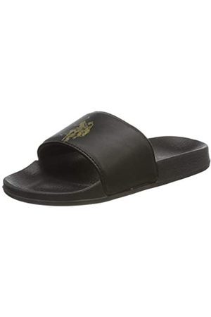 U.S. Polo Assn. US Polo Association Emerald Metallized, Chanclas para Mujer, (Black/Gold 044)