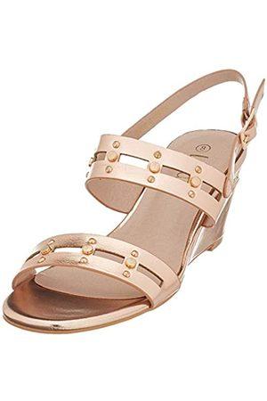 Lotus Alice, Zapatos de tacón con Punta Abierta para Mujer, (Rose Gold Ky)