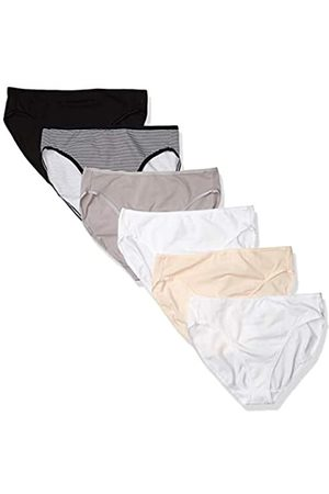 Amazon Cotton Stretch Hi-Cut Brief Panty, 6-Pack Pantis