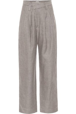 Brunello Cucinelli Pantalones de lino, lana y seda