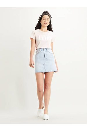 Levi's High Waisted Deconstructed Skirt Indigo / Check Ya Later