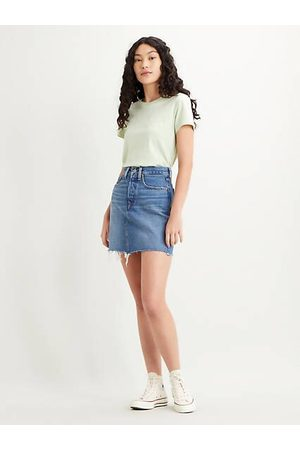 Levi's High Waisted Deconstructed Skirt Indigo / Stuck In The Middle