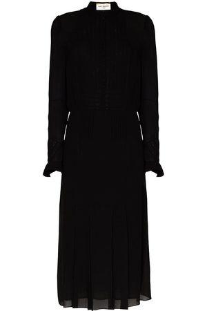 Saint Laurent Vestido camisero translúcido
