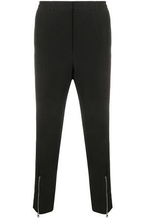 Alexander McQueen Pantalones rectos con detalles de cremalleras