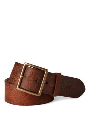 RRL Cinturón de cuero desgastado