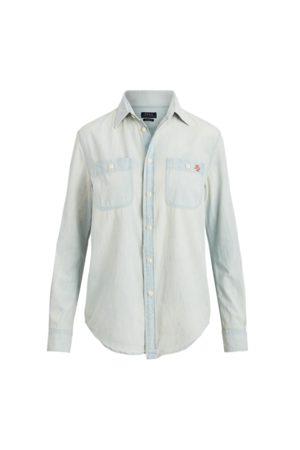 Polo Ralph Lauren Camisa de chambray con Polo Bear