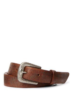 RRL Cinturón de piel pulida
