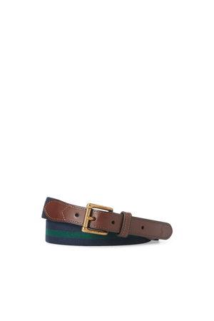 Polo Ralph Lauren Cinturón elástico con ribete de piel