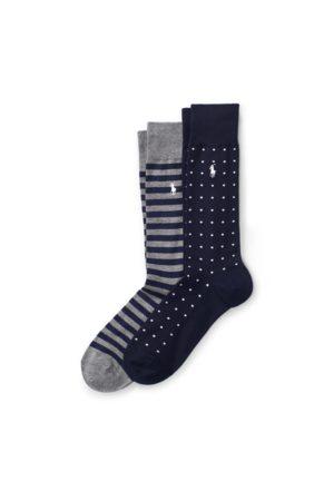 Polo Ralph Lauren Paquete doble de calcetines de lunares y rayas