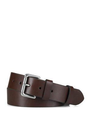 Polo Ralph Lauren Cinturón de piel con hebilla de rodillo