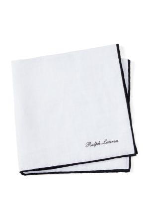 Ralph Lauren Pañuelo de bolsillo de lino con franja