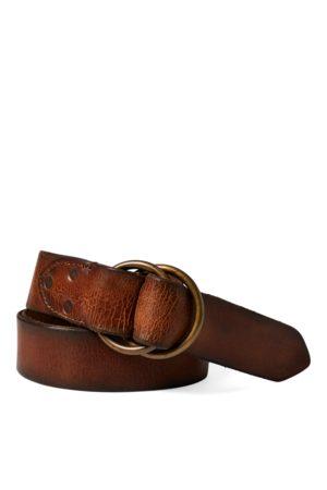 RRL Hombre Cinturones - Cinturón de piel desgastada