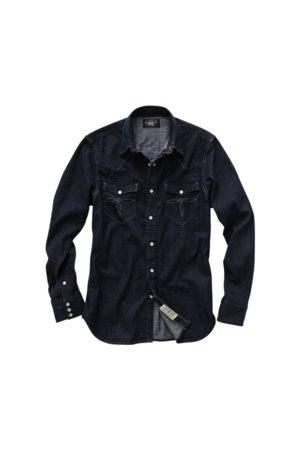 RRL Camisa Western de tela vaquera Slim Fit