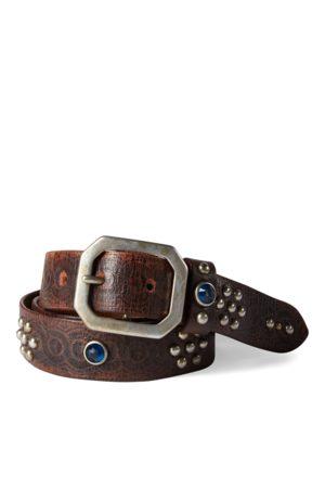 RRL Hombre Cinturones - Cinturón de piel con tachuelas Rasco