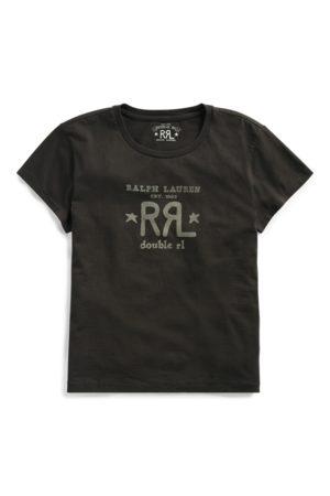 RRL Camiseta de cuello redondo con logotipo