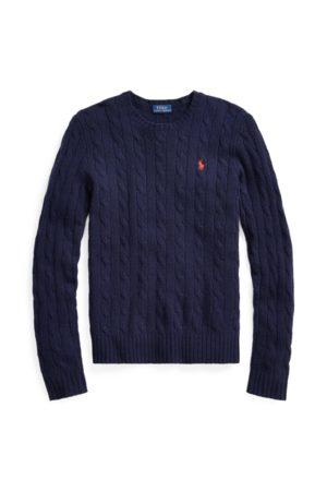 Polo Ralph Lauren Jersey de lana en punto de ochos con cuello redondo