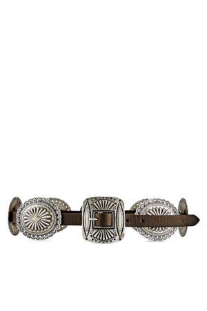 Polo Ralph Lauren Mujer Cinturones - Cinturón de concho de piel desgastada
