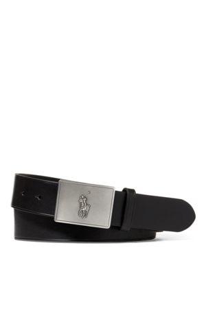 Polo Ralph Lauren Hombre Cinturones - Cinturón de piel con hebilla de placa con caballo