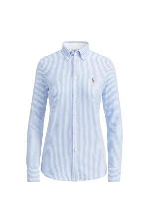 Polo Ralph Lauren Mujer Camisas - Camisa Oxford de punto con rayas
