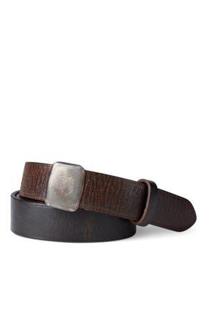 RRL Cinturón de piel Vincennes