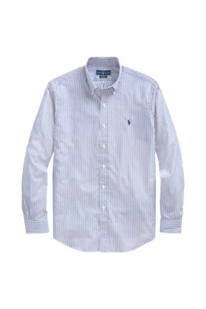 Polo Ralph Lauren Camisa a rayas de popelina de algodón slim fit