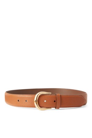 Lauren by Ralph Lauren Mujer Cinturones - Cinturón de piel granulada