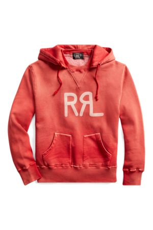RRL Sudadera de felpa con capucha y logotipo