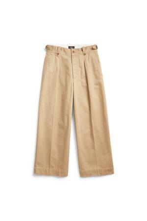 RRL Mujer Pantalones y Leggings - Pantalón de pernera ancha tobillera de algodón