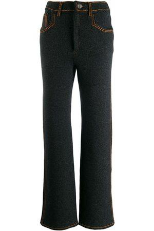 Barrie Pantalones con costuras en contraste