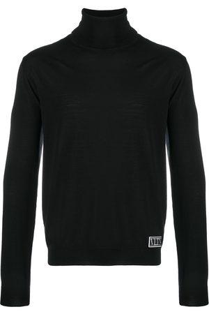 VALENTINO Logo-patch roll-neck jumper