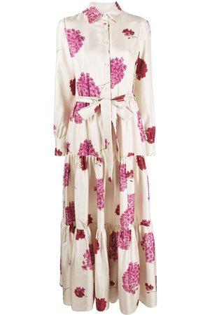 La DoubleJ Vestido camisero Bellini con motivo floral