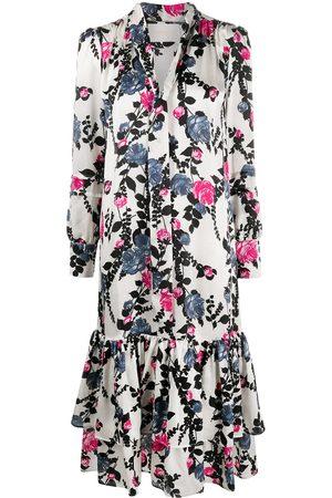 La DoubleJ Vestido estilo blusa con lazo en el cuello