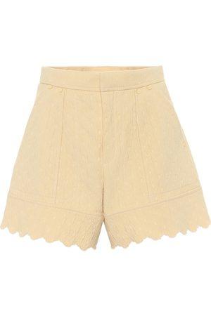 Chloé Shorts de jacquard de algodón