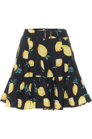 ALEXANDRA MIRO Exclusivo en Mytheresa – minifalda Isla de seda estampada