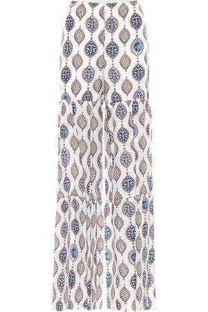 Chloé Pantalones anchos de seda habutai