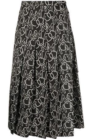 Moncler Falda plisada con logo