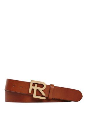 Ralph Lauren Cinturón de piel vachetta RL