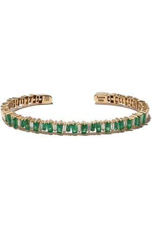Suzanne Kalan Mujer Pulseras - Brazalete en oro amarillo de 18kt con esmeralda y diamantes
