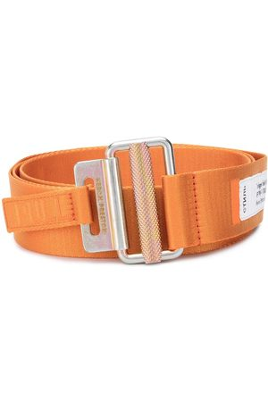 Heron Preston Tape logo patch detail belt