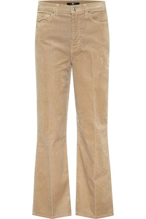 7 for all Mankind Jeans Alexa de pana cropped