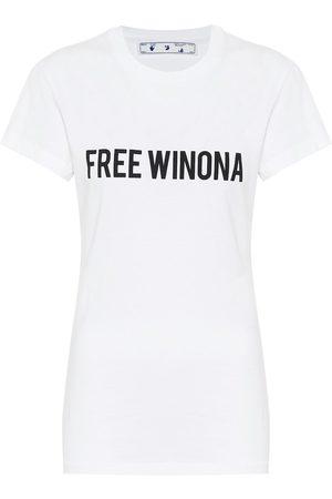 OFF-WHITE Camiseta de punto fino de algodón