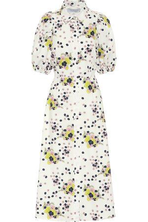 Les Rêveries Exclusivo en Mytheresa – vestido camisero de popelín de algodón floral