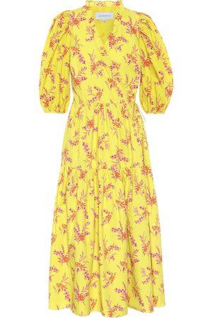 Les Rêveries Exclusivo en Mytheresa – vestido midi de popelín de algodón floral