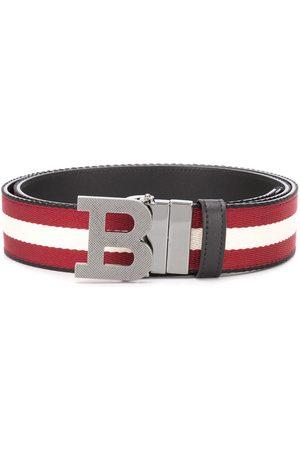 Bally Cinturón a rayas con hebilla con logo