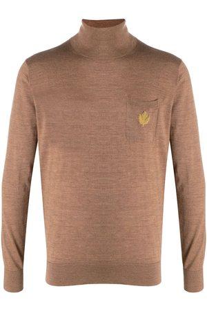 Dsquared2 Jersey con aplique del logo y cuello vuelto