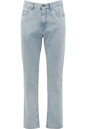 Gucci   Hombre Jeans De Denim De Algodón Con Detalle De Logo 20cm 33