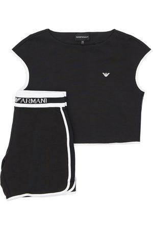 Emporio Armani | Niña Camiseta De Algodón Y Shorts Deportivos 10a