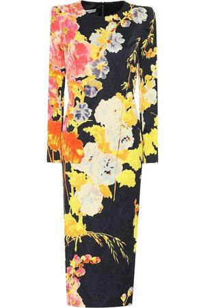 DRIES VAN NOTEN Vestido midi de crepé floral