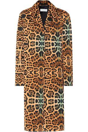 DRIES VAN NOTEN Abrigo con estampado de leopardo